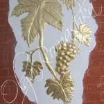 Виноградная лоза, золочение поталью